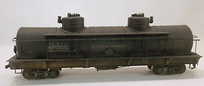 On3 BRASS ADDM TEXACO 2 DOME TANK CAR TCX#72 PAINTED & WEATHERED
