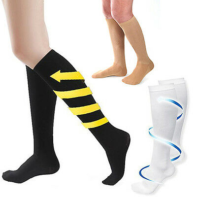 Mens Women's Anti-Fatigue Knee High Stockings Compression Support Socks Seraphic