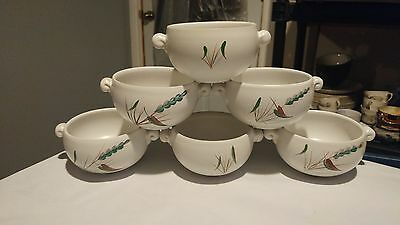 Denby Green Wheat Set of 6 Lug Handled Individual Casserole Dishes