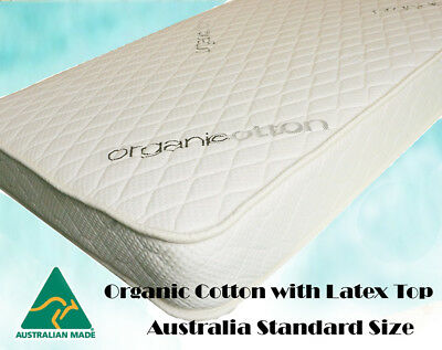 Organic Cotton with Latex Top Baby Cot Mattress Australia Standard size