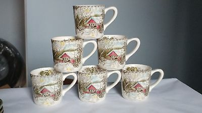 Johnson Brothers ENGLAND The Friendly Village Set of 6 Mugs