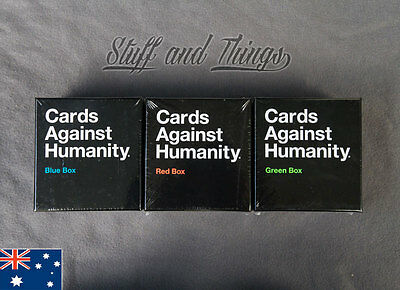 *Genuine* Cards Against Humanity - Expansion Box - Red/Blue/Green Box