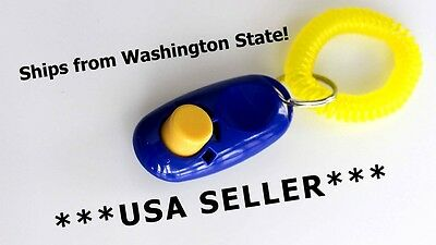 Blue Puppy Dog Pet Training Obedience Clicker **USA SELLER**