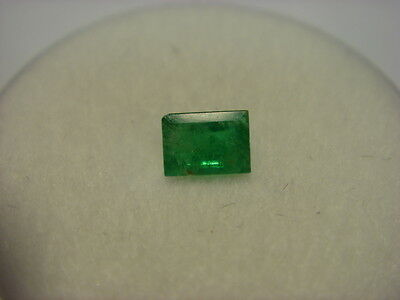 Emerald Rectangular Cut Gemstone 4.5mm x 3mm 0.31 Cts Natural Columbian Emeralds