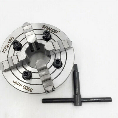 """6"""" 4 Jaw Lathe Chuck Independent 160MM Reversible Chuck Hardened Steel CNC Lathe"""