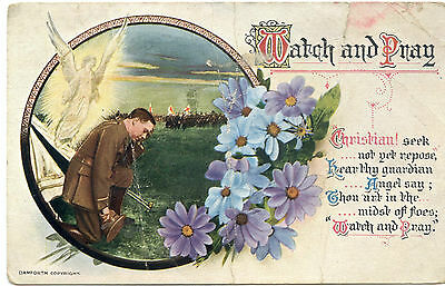 edwardian  postcard love and romance italian canadians soldier theme