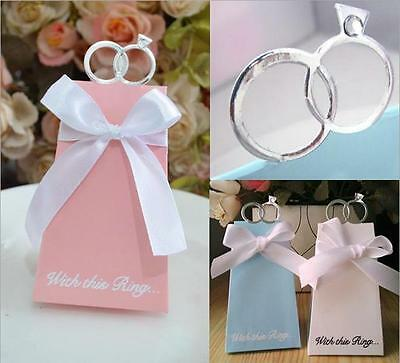 100pcs Personalized Rings Style Wedding Party Favors Boxes Sweet Candy Box Gifts