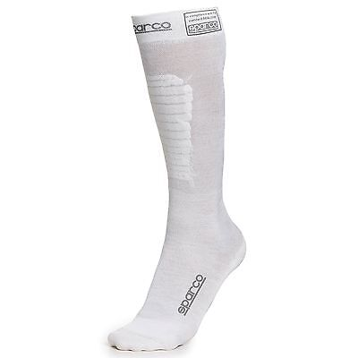 Sparco Flame Resistant Nomex FIA Approved Compression Socks White - X-Small (XS)