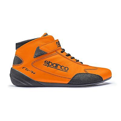 Sparco Cross RB-7+ FIA Approved Leather Race Boots Orange - UK 9.5 / Eur 44