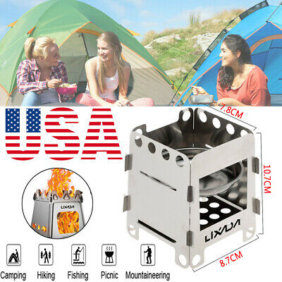 Outdoor Camping Picnic Alcohol Wood Stove with Storage Bag Portable K1V2
