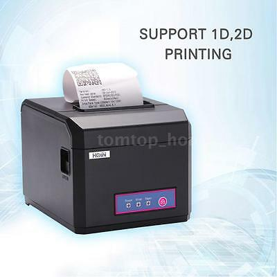 Hoin 80mm Dot Receipt Barcode Thermal Printer With Power Supply & USB cable O2X6