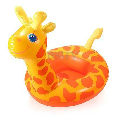 Inflatable Giraffe Baby Kids Toddler Infant Swimming Float Seat Boat Pool Ring