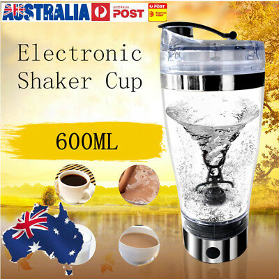 AU600ML Auto Electric Cocktail Mixer Cup Bottle Protein Milk Coffee Drink Shaker