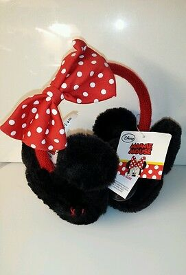 EAR MUFFS Disney Minnie Mouse, Red Bow Ear Muffs, Girls, ONE SIZE, HIGHEST QUA..