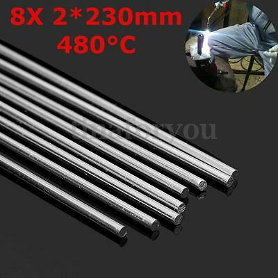 8pcs 230mm Aluminum Alloy Silver Welding Brazing Solder Rod for Repair & Joining