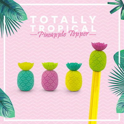 Pineapple Erasers Rubbers Pencil Toppers Office/School Stationary Funky - NEW