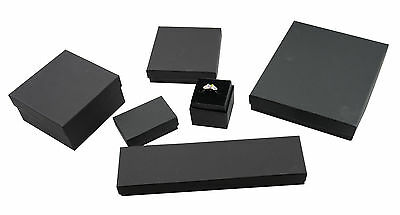 Black Kraft Multi Purpose Cotton Filled Boxes Jewellery Gift Display Packaging