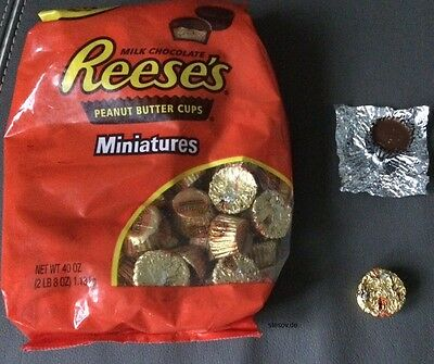 Reeses Reese's mini Miniatures Peanut Butter Cups Erdnussbutter 1,13kg party bag