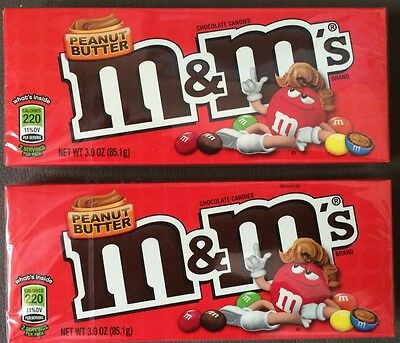 2x M&M's peanut butter Erdnussbutter Theatre Box a' 85,1 g