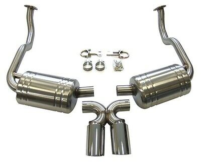 Porsche 987 (Gen 1) Cayman & Boxster Cat Back Sports Exhaust with Stainless Tips