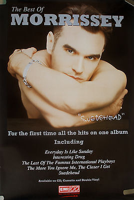 Rare Best Of Morrissey The Smiths 1997 Vintage Music Record Store Promo Poster