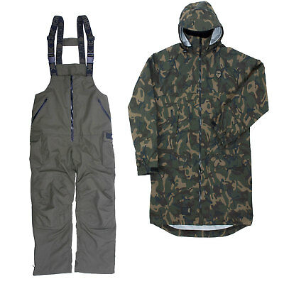 Fox 10K Hydro Fishing Suit (Camo Jacket + Khaki Salopettes) *Brand New 2017*