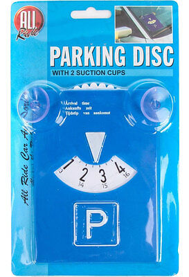 PARKING DISC + SUCTION CUPS Easy Fit Windscreen Car/Van/Work Timer Blue Badge