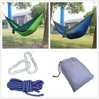 Nylon Parachute Fabric Hammock Portable Outdoor Camping Travel For Double Person