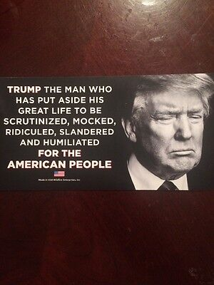 TRUMP FOR THE AMERICAN PEOPLE STICKER memorial 45th decal