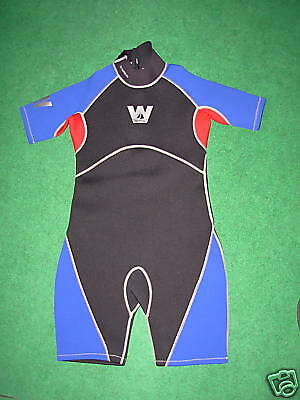 Junior Shortie Wetsuit By Wetline (Blue/Red) XXL