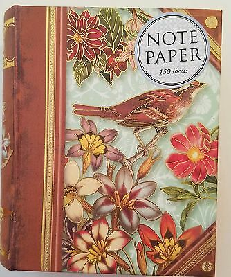Punch Studio Decorative Note Paper in Mini Keepsake Book Box - Birds Flowers
