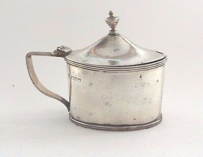 Mustard Pot Solid Sterling Silver Georgian Revival Nathan & Hayes Chester 1907