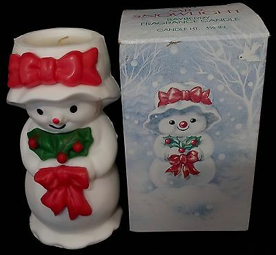 Avon Mrs Snowlight Bayberry Fragrance Candle Nib