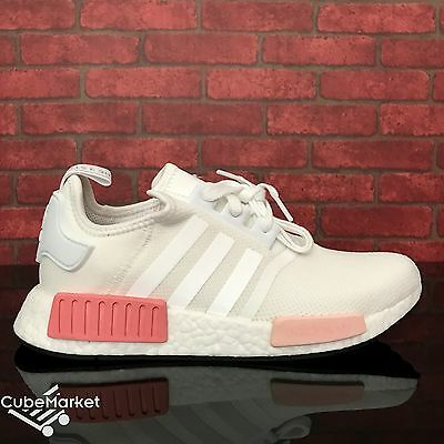 best sneakers 7c82e 41198 ADIDAS NMD R1 Runner White Rose White Pink BY9952 Women's Size 5 - 9.5