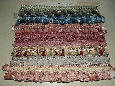 Lot Vintage French Passementerie Tassel Trimming Braid Cushions Curtains Lamps