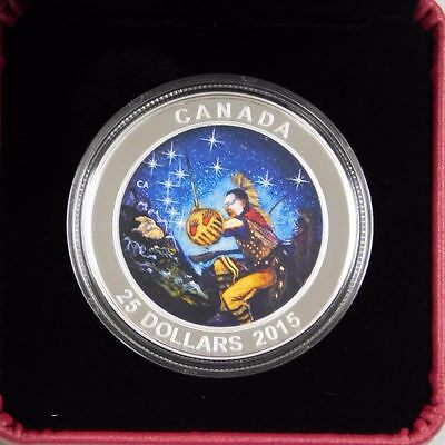 2015 $25 Fine Silver Coin 1 oz Star Charts:  Wounded Bear (Royal Canadian Mint)