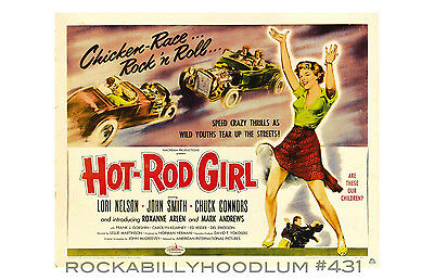 New Hot Rod Poster 11x17 Hot Rod Girl Movie Lobby Card Pinup Drag Race