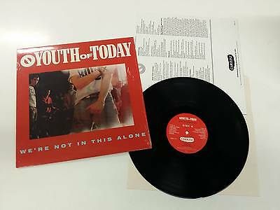 Youth Of Today We're Not In This Alone Lp  Orig. 1988 Usa Caroline Records Mint
