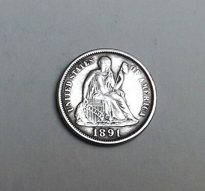 United States 1892 Silver Dime Very Nice Condition Nice Rare Coin