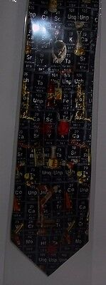 Chemistry and Periodic Table on navy Tie