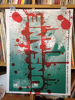 UNSANE CONCERT POSTER by Henry Owings Edn of 40 MOUTH OF THE ARCHITECT