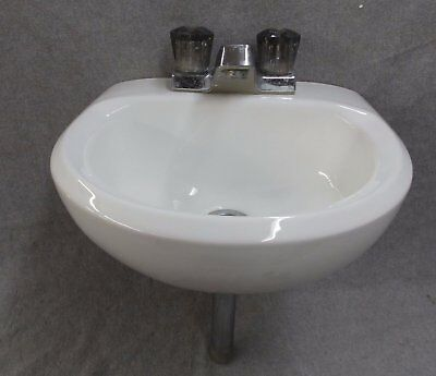 Small Vtg White Porcelain Ceramic Bathroom Wall Sink American Standard  2362-16