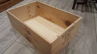 Authentic 12 Bottle French Wooden Wine Crate / Box / Planter / Hamper / Retro