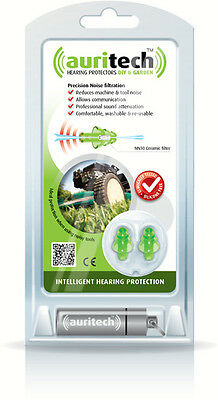 Auritech Hearing Protectors Earplugs DIY & Gardeining Machine Mower Tool Noise