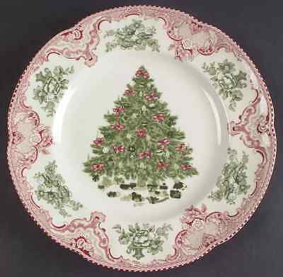 Johnson Brothers OLD BRITAIN CASTLES PINK CHRISTMAS Dinner Plate 5443243