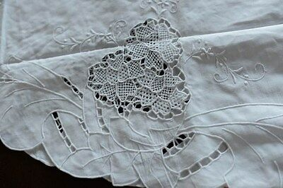 "Lim's Hand Embroidery And Intricate Needle Work And Cutwork Tablecloth 85"" Round"