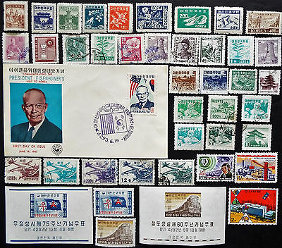 Korea Stamps Souvenir Sheets And Fdc