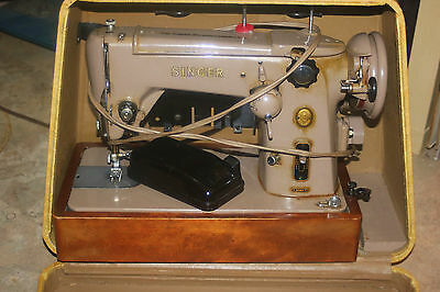 VINTAGE 50s SINGER SEWING MACHINE 306K HEAVY DUTY