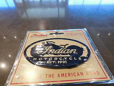 "Indian Motorcycle / Kings Mountain Patch Small Black Oval Patch 4"" x 2.6"""