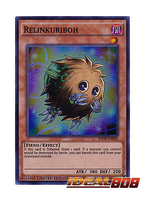 YUGIOH x 3 Relinkuriboh - INOV-ENSE2 - Super Rare - Limited Edition Near Mint